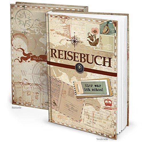 XXL Reisetagebuch Reisebuch Notizbuch DIN A4 vintage Nostalgie 153 Seiten + Inhaltsverzeichnis z....