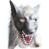 MESST Máscara de Cabeza de Lobo de Horror, máscara de Silicona, Capucha de Personalidad