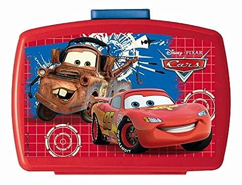 p:os 68788 Brotdose Premium mit Einsatz Disney Pixar Cars, ca. 16 x 12 x 6,5 cm - Auto Lunch Box