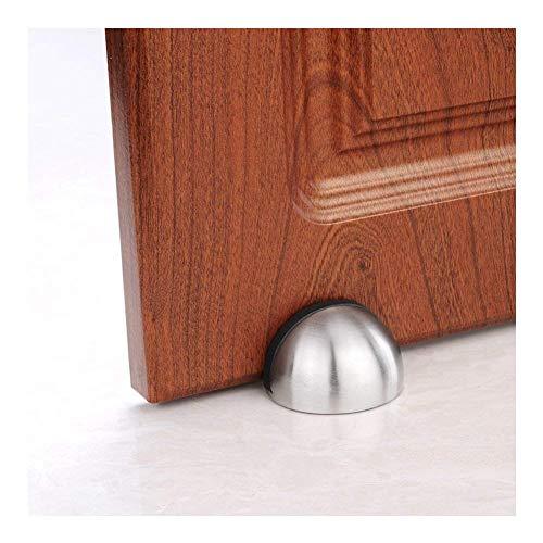 FORD KING Türstopper, gratis Punch, Edelstahl, gebürstet, 3 m, Selbstklebende Türhalterung, Türstopper für Hotel, Zuhause, Restaurant, Silber -
