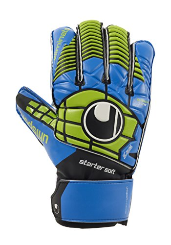 Uhlsport Eliminator Starter-Guantes Portero Negro/Azul/Verde