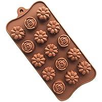 YOKIRIN® Stampo in Silicone Formi di Rose Accessorio per la Decorazione Della Torta del Fondente di Cioccolato stampi Zucchero Torte Stampi Sapone(Colore Casual) - 4 Cutter Tubo Di Acciaio