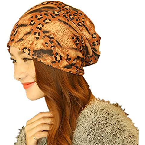 Moda cotone doppia leopardo grano manica caldo sciarpa cappello ,