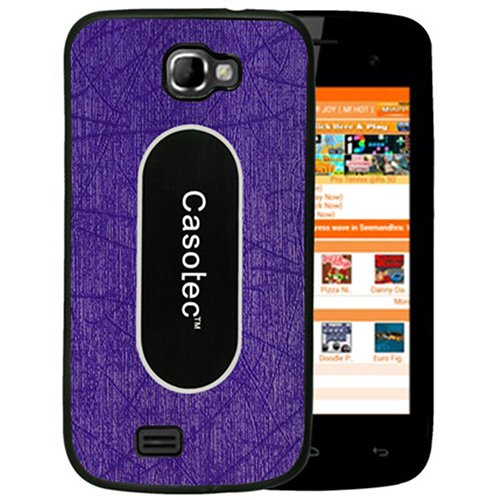Casotec Metal Back TPU Back Case Cover for Micromax Canvas Engage A091 - Purple  available at amazon for Rs.125