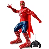 IndusBay Big Size 12 Inches R/C Spiderman Action Figure Remote Control Robot Toy For Kids- Red