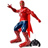 IndusBay Big Size 12 inches R/C Spiderman Action Figure Remote Control Robot Toy