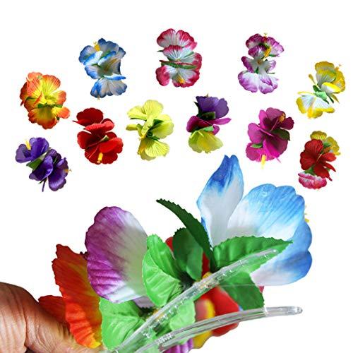 Luau Frisuren - Wondful 12 Teile/Paket Künstliche Tropische Hibiskusblüte