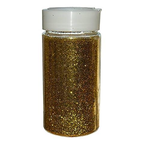 Piccolino Streu Glitzer Gold 250g (400ml) in Streudose - Große Vorratspackung Glitter Flimmer zum Basteln, Dekorieren