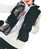 Baumwolle Weste Damen, DoraMe Frauen Pelz Ball Anzüge Weste Jacke Beiläufige Mantel Kleidung Stehkragen Mantel (Schwarz, XL)