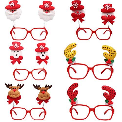 Toyvian 6 stücke Weihnachten Nette Lustige Brille Sonnenbrille Foto Requisiten Party Favors für...