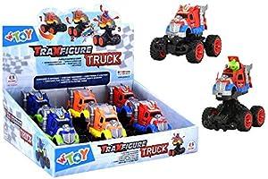 GLOBO- Traxfigure Vehicles Bounce/Open 3 Col 6 Piezas D/Box (39106), (1)