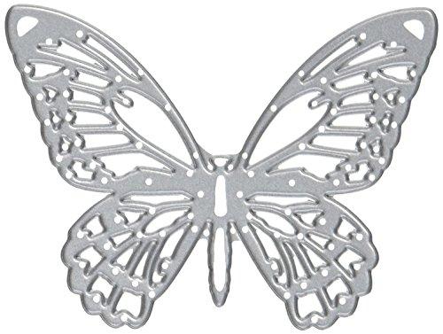 Sizzix 661182 Fustella Thinlits Farfalle Dettagliate di Tim Holtz, Carbon Steel, 19.1x14.3x0.3 cm