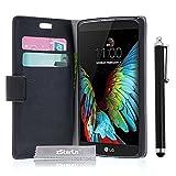 zStarLn® nior Luxe Portefeuille Etui Housse pour LG K10 Coque en cuir + 3 Films en Stylet Touch Pen OFFERTS