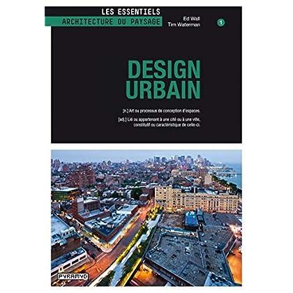 Design urbain. (n) Art ou processus de conception d'espaces. (adj.) Lié ou appartenant à une cité ou à une ville, constitutif ou caractéristique de celle-ci.