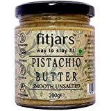 FITJARS Pistachio Butter Smooth Unsalted(Pista), Breakfast Vegan Diet Butter -200 g