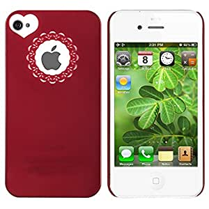 Rot Herz hart Schutz Hülle Tasche Case Cover Schale für Apple iPhone 4 4S