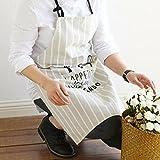 ZPSPZ-Schürze Reiner Baumwolle Küche Familie Schürze Milch Tee Geschäft Rösten Kaffee Restaurant Arbeitskleidung,C