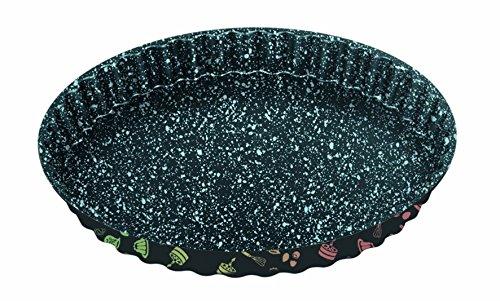 STONELINE 16075 et gâteau de fruits Moule à quiche Anti-adhésif Acier carbone avec effet de prisme Moule, multicolore, 28 x 2,9 cm