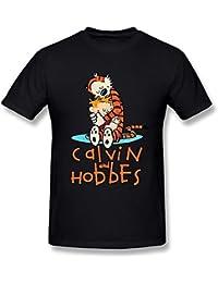 limei Hombres de Calvin y Hobbes juntos camisetas camiseta de manga corta