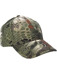 Outdoor Cap - TOOGOO(R)Boa Grain Baseball Cap Bionic Camouflage Sun Hat Outdoor Hunting Camping Hiking Cycling Peaked Cap Army Green
