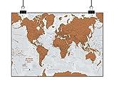 Scratch le monde Version Française - Grattez les endroits que vous avez visité - détails cartographiques - 84,1 cm (l) x 59,4 cm (h)
