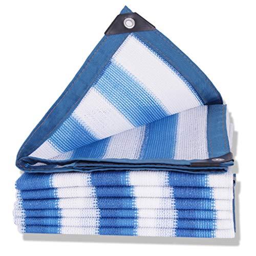 CUUYQ Sunblock Shade Net Cloth, Rechteck Schattierungsnetz Sonnensegel mit ÖSen Sunblock Schatten Segel füR Terrassen Sonnenschutz Segel Tuch Sommerabdeckung,Stripe_6x7m/18x21ft