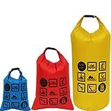 - Wasserfestes ultra leichtes Packsack Set mit Drehverschluss- 3 Säcke mit 10 L, 5 L und 3 L- Gewicht zusammen: 89g; 3L=23g; 5L=30g; 10L=36g
