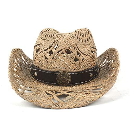 zlhcich Damen Sonnenhüte Günstige Damen Sonnenhüte rdwork Weave Cowgirl Hüte Für Sommer Größe 56 58 cm Gro C17 -