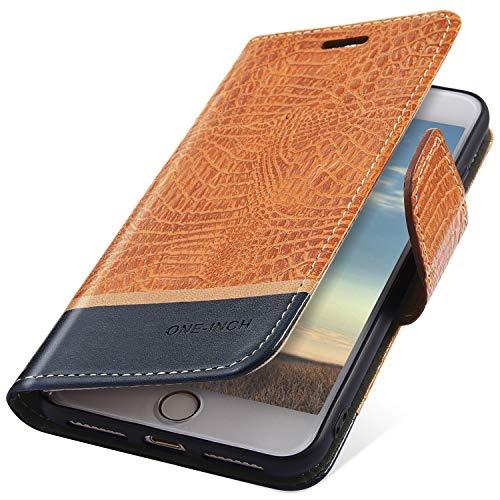 Preisvergleich Produktbild MoreChioce OnePlus 6 Hülle,OnePlus 6 Ledertasche, Premium Orange Krokodil Muster Klappbar Stand Flip Case Etui im Bookstyle Protective Wallet Case Magnetische pour OnePlus 6