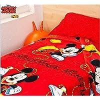 Asditex Juego de Sábanas Coralina Infantil Mickey Mouse, 3 Piezas (1 Sábana Encimera,