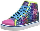 Heelys Veloz, Baskets Hautes Fille, Multicolore Denim/Glitter/Rainbow, 33 EU