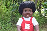 "LARGE 19"" AMERICIAN BLACK AFRICAN DOLL BABY BOYS ANTONNE AKIA DOLL VINYL 48CM AFRO DOLL"