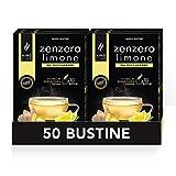 50 bustine - Tisana Zenzero e Limone da Zuccherare - 5 Confezioni da 10 bustine ( 50 bustine 50 tazze )