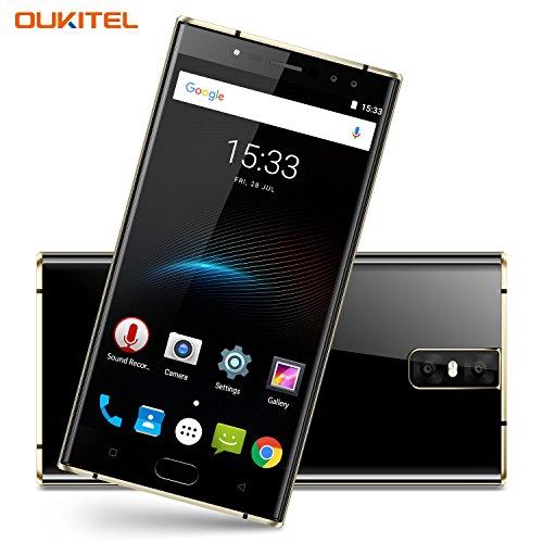Oukitel K3 4 Kameras Handy Ohne Vertrag 6000mAh Akku 5.5 Zoll Touch-Display 1920*1080pixel Double (16MP+2MP) 64GB Interner Speicher 4GB Ram Octa Core 4G Dual SIM Smartphone Fingerabdruck-Schwarz