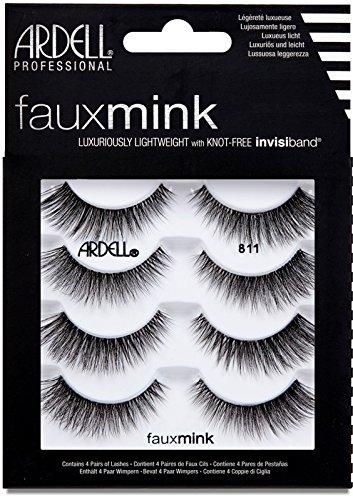 Ardell Fashion Wimpern (ARDELL Faux Mink 811 4 Pack Künstliche Wimpern, 25 g)