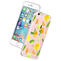 Alsoar iphone 6S Plus/6 Plus Hülle,iphone 6S Plus/6 Plus weich Transparente Silikon Handyhülle Ultra dünn Kratzfest Anti-Verformung TPU Cover Kaktus-Muster iphone 6S Plus/6 Plus (Zitrone)