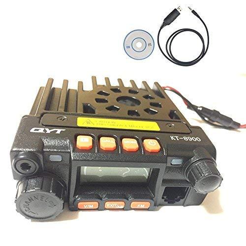 Radtel QYT KT8900 kt-8900 Dual Band Mobile Transceiver VHF/UHF Mini Car Radio Amateur (Ham) Radio with Free Programming Cable -
