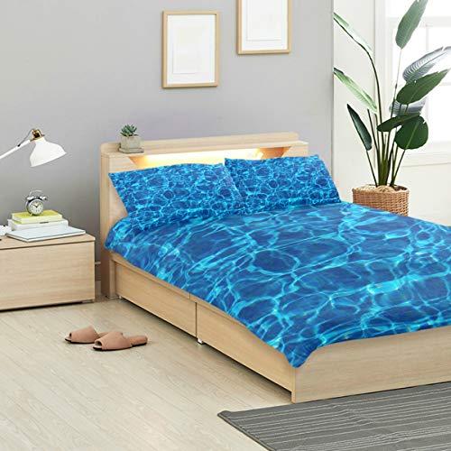 MONTOJ Bettwäsche-Set für Kinder, für Schwimmbecken, Standard-Tagesdecke, Doppelgröße, 3-teiliges Set