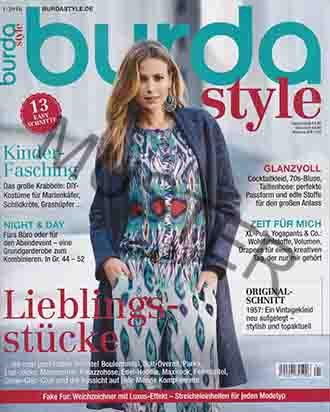 Burda Style 1 / 2016 - Lieblingsstücke Boulemantel, Ikat-Overall, Parka, Etui-Jacke Maximantel, Palazzohose (Overall Diy Kostüm)