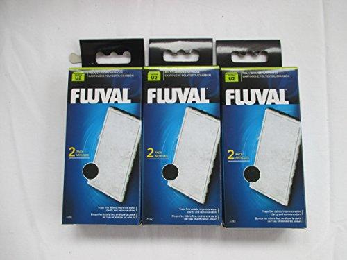 Fluval A490 U2 Poly-Kohlefilterkartusche für Aquarien (3 Packs)