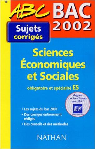 Bac 2002 Sciences économiques et sociales ES