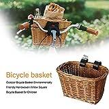 Childlike Cesta De Bicicleta Mimbre Retro, Cesta De Bicicleta Delantera, Cesta De Bicicleta De Hecha A Mano De Mimbre para Niños, 18 X 13 X 23cm