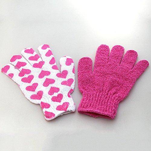 1Paar Peeling Bad Dusche Scrub Handschuhe für Badezimmer Haut Gesicht Körper waschen Massage Loofah Spa