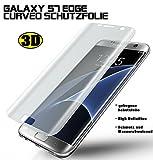 2 Stück 3D curved gebogene Schutzfolie Displayschutzfolie Galaxy S7 Edge (deckt die Displayrundung vollständig ab inkl.deutscher Anleitung) Screen Protector Displayschutz
