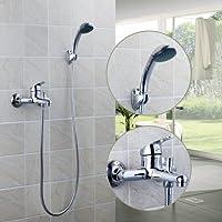 97098bagno Spray soffione a mano Wall Mount corpo in ABS + + 1500Tubo vasca da bagno rubinetto miscelatore lavabo Torneira White