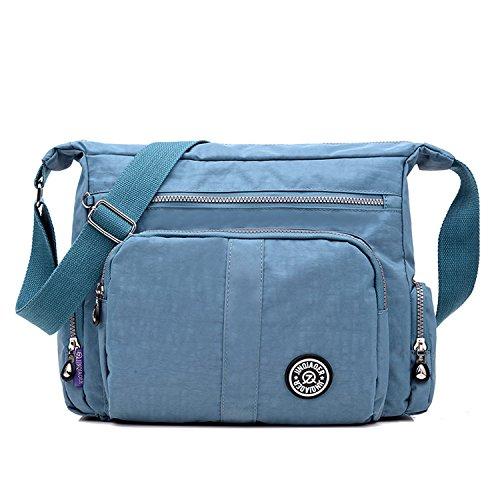 Foino Schultertasche Leichter Umhängetasche Wasserdicht Designer Messenger Bag Taschen Damen Kuriertasche Strandtasche Mode Sporttasche -