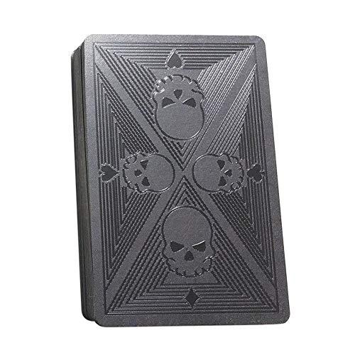 SUPERLOVE Creative Poker Plastic Waterproof Spielkarten Für Magic Party Gift Black (Sehbehinderte Spielen Karten)