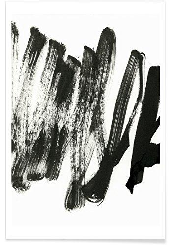 """JUNIQE® Poster 20x30cm Abstrakt & Geometrisch Schwarz & Weiß - Design """"Black On White"""" (Format: Hoch) - Bilder, Kunstdrucke & Prints von unabhängigen Künstlern - Abstrakte und moderne Kunst - entworfen von Iris Lehnhardt"""