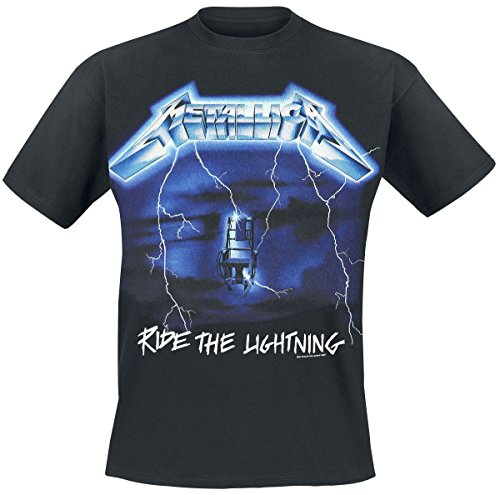 Probity Metallica Ride The Lightning Tracks Mens Black T Shirt