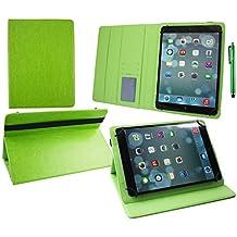 Emartbuy® Woxter QX 93 9 Pulgada Tablet Universal ( 9 - 10 Pulgada ) Verde Prime PU Cuir Ángulo Múltiples Folio Exécutif Wallet Case Cover Verde Con Tarjeta de Slots Interior + Verde Lápiz Óptico
